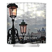 Lamp At Venice Shower Curtain
