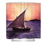 Lamu Kenya Shower Curtain