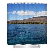 Lanai Coastline Shower Curtain