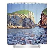 Land And Sea No I - Ramsey Island Shower Curtain