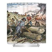 Land Clearing, C1830 Shower Curtain