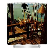 Land Ho Shower Curtain