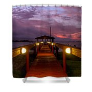 Landing Lights Shower Curtain