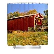 Landis Mill Covered Bridge Shower Curtain