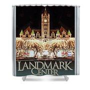 Landmark Center Winter Shower Curtain