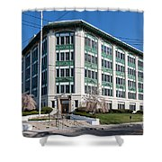 Landmark Life Savers Building I Shower Curtain by Clarence Holmes