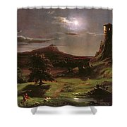Landscape - Moonlight Shower Curtain