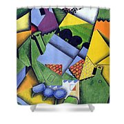 Landscape And Houses At Ceret Shower Curtain