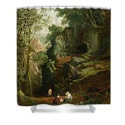Landscape Near Clifton Shower Curtain by Francis Danby