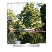 Landscape Tree Reflections Shower Curtain