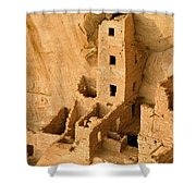 Landscape View Of Square Tower Shower Curtain