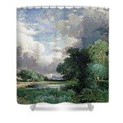 Landscape With A Bridge Shower Curtain