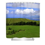 Landscape With Crater Shower Curtain