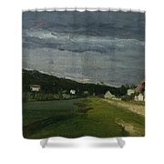 Landscape With Stormy Sky Shower Curtain