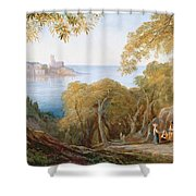 Landscape With View Of Lerici Shower Curtain
