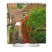 Lane And Ivy In St Cirq Lapopie France Shower Curtain