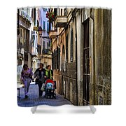 Lane In Palma De Majorca Spain Shower Curtain