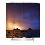 Lanikai Dawn Hawaii Shower Curtain