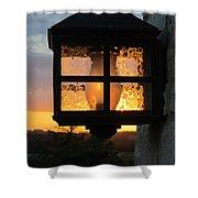 Lantern In The Sunset Shower Curtain