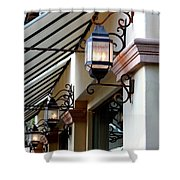 Lanterns And Lines Shower Curtain