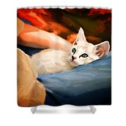 Lap Kitty Shower Curtain