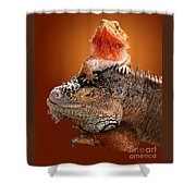 Lap Lizard Shower Curtain by Jim Carrell