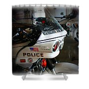 Lapd Motorcycle Shower Curtain