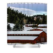 Large Barn Shower Curtain