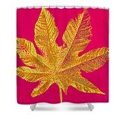 Large Leaf Photoart Shower Curtain