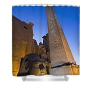 Large Pharaohs Head Statue And Obelisk Shower Curtain