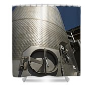 Large Steel Vat For Wine Making Shower Curtain
