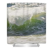 Large Waves On The Coast Of Maine Shower Curtain