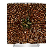 Largest Round Barn Ceiling Shower Curtain