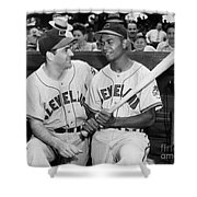 Larry Doby (1923-2003) Shower Curtain