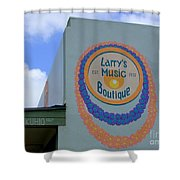 Larrys Music Boutique  Est 1952 Shower Curtain