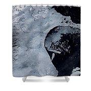 Larsen B Ice Shelf Breaking Away 2 Of 5 Shower Curtain