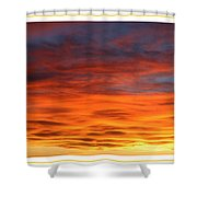 Las Cruces Sunset Shower Curtain