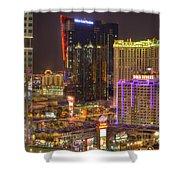 Las Vegas Nevada Shower Curtain by Nicholas  Grunas