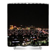 Las Vegas Nevada Nighttime Skyline Shower Curtain
