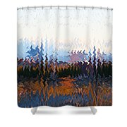 Las  Vegas  Nevada  Skyline  Digital Art Shower Curtain