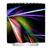 Laser Light Show Shower Curtain