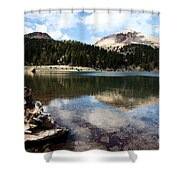 Lassen Mountain Lakes Shower Curtain