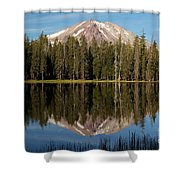 Lassen Peak Reflections Shower Curtain
