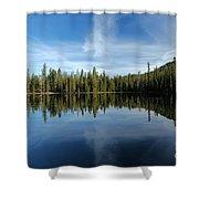 Lassen Summit Lake Reflections Shower Curtain