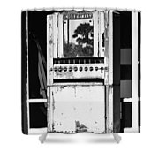 Last Cigarette Bw Palm Springs Shower Curtain
