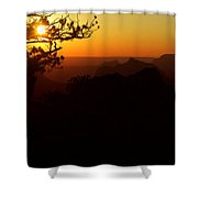 Last Golden Rays - Grand Canyon Shower Curtain