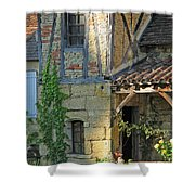 Last Light In Sarlat Shower Curtain