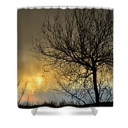 Last Light In The Storm Shower Curtain