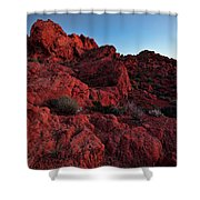 Last Light In Valley Of Fire Shower Curtain