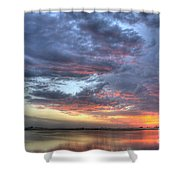 Last Light Over The Lake Shower Curtain